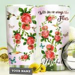 Hummingbird Rose Personalized HHE0310046 Stainless Steel Tumbler