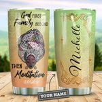 Mandala Meditation Black Women Personalized HHE2309014 Stainless Steel Tumbler