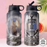 Storm Pirate Ship Personalized DNE1010026 Stainless Steel Bottle With Straw Lid