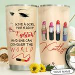 Lipstick Girl Personalized THV1510005 Stainless Steel Tumbler