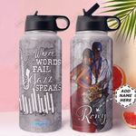 Jazz BW KD4 Personalized MDA1510017 Stainless Steel Bottle With Straw Lid