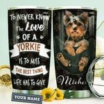 Yorkie Personalized HHA0910006 Stainless Steel Tumbler
