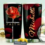 Rose Faith Personalized HTQ0510006 Stainless Steel Tumbler