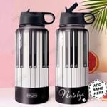 Piano KD4 Personalized HHA0810012 Stainless Steel Bottle With Straw Lid