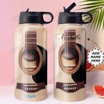 Guitar Personalized HHW0610005 Stainless Steel Bottle With Straw Lid