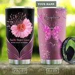 Breast Cancer Faith Hope Personalized KD2 HAL1310010 Stainless Steel Tumbler
