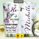 Faith Hummingbird Personalized HHE0310042 Stainless Steel Tumbler
