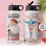 Nurse Personalized HHA1710007 Stainless Steel Bottle With Straw Lid
