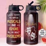 Theatre Personalized HHA1910012 Stainless Steel Bottle With Straw Lid