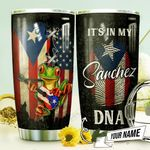 Puerto Rico Frog Personalized THV0710008 Stainless Steel Tumbler