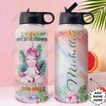 Unicorn Personalized HTR2909019 Stainless Steel Bottle With Straw Lid