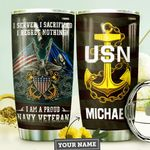 Navy Personalized MDA0310016 Stainless Steel Tumbler