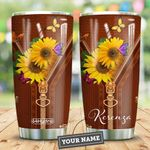 Butterfly Sunflower Personalized DHA2509006 Stainless Steel Tumbler
