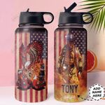 Firefighter Personalized HHA1210016 Stainless Steel Bottle With Straw Lid