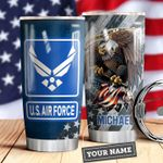 Air Force Personalized MDA0310008 Stainless Steel Tumbler