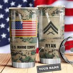 Marine Corps Personalized MDA0610047 Stainless Steel Tumbler