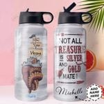 Octopus Pirate Ship Personalized HHE0610004 Stainless Steel Bottle With Straw Lid