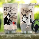 Give Me Coffee Cat Personalized KD2 HRM2010013 Stainless Steel Tumbler