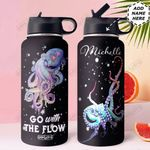 Octopus Personalized HHE0210020 Stainless Steel Bottle With Straw Lid