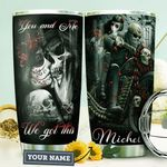 Skull Couple Personalized HHA1210029 Stainless Steel Tumbler