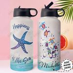 Starfish Turtle Personalized HHE0210025 Stainless Steel Bottle With Straw Lid