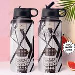 Guitar Personalized HHW0610003 Stainless Steel Bottle With Straw Lid