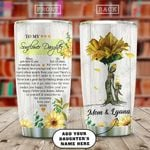 Sunflower Butterfly Momy Personalized KD2 HAL0910021 Stainless Steel Tumbler