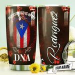 Puerto Rico DNA Personalized THV0710007 Stainless Steel Tumbler