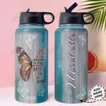 Butterfly Personalized HHA1610002 Stainless Steel Bottle With Straw Lid