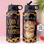 Owl Personalized HTR1610006 Stainless Steel Bottle With Straw Lid