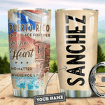 Personalized Puerto Rico In Heart HLZ0810013 Stainless Steel Tumbler