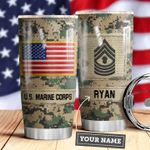 Marine Corps Personalized MDA0610028 Stainless Steel Tumbler
