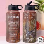 Deer Married Personalized HHA1310004 Stainless Steel Bottle With Straw Lid