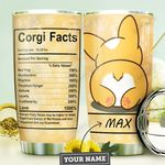 Corgi Facts Personalized MDA1210036 Stainless Steel Tumbler