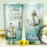 Pirate Ship Personalized DNE0610011 Stainless Steel Tumbler