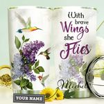 Hummingbird Purple Lilacs Personalized HHE0310045 Stainless Steel Tumbler