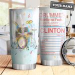 Drummer Facts Personalized DHA2909004 Stainless Steel Tumbler