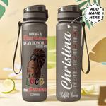 Black Women Personalized MDR0709029 Black Water Tracker Bottle