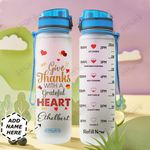 Thanksgiving Personalized DNA2209003 Water Tracker Bottle