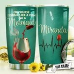 Wine Mermaid Personalized THV1210008 Stainless Steel Tumbler