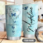 Butterfly Faith Personalized THA1710025 Stainless Steel Tumbler