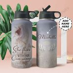 Angel Wing Personalized HHE2209003 Stainless Steel Bottle With Straw Lid