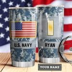 Navy Personalized MDA0510021 Stainless Steel Tumbler