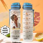 Black Women Bible Personalized HHA0409017 Water Tracker Bottle