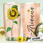 Dog Sunflower Personalized THV0710002 Stainless Steel Tumbler