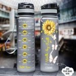 Buttefly Faith Personalized HHA1408026 Black Water Tracker Bottle