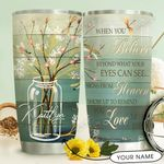 Dragonfly Faith Personalized THV1510002 Stainless Steel Tumbler