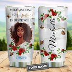 Black Women Love Personalized HHE2309008 Stainless Steel Tumbler