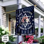 Judaism One Nation Under God Personalized THV0310014 Flag