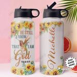 Hummingbird Faith Personalized HTR1710026 Stainless Steel Bottle With Straw Lid